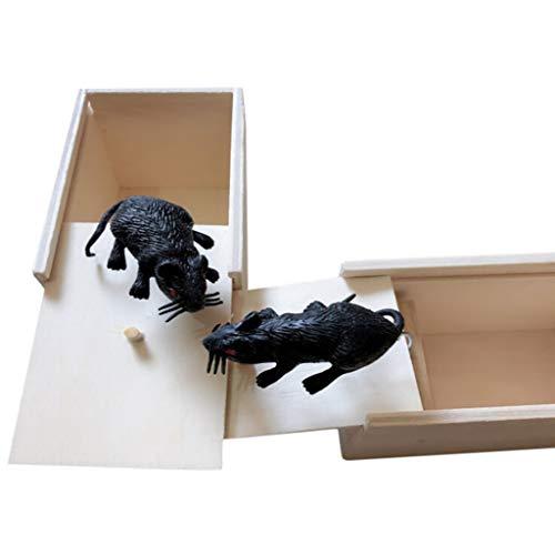 Kostüm Kennen Cosplay - Tensay Halloween Parodie Spielzeug Holz Überraschungsbox Maus Lustige Praktische Witz Spielzeug Neuheit Lustige Spielzeug Home Bar Party Dekoration