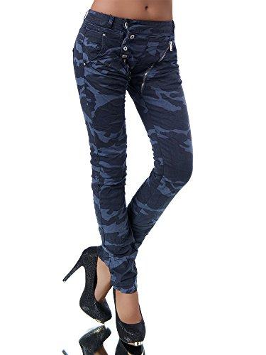 L368 Damen Jeans Hose Boyfriend Damenjeans Harem Baggy Chino Haremshose, Farben:Dunkelblau;Größen:34 (XS)