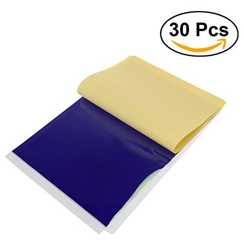 Adhesivo de rosenice suministro 30pcs adhesivo diseño de papel de transferencia papel de calco