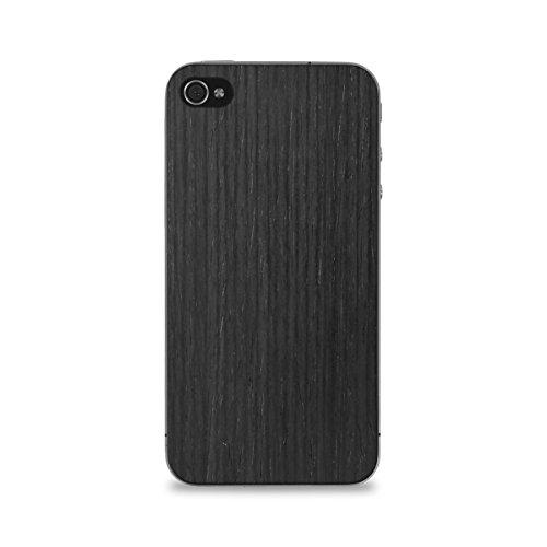 Cover-Up #WoodBack Peau de Bois Naturel pour iPhone 4 / 4s - Acajou Frêne Noir