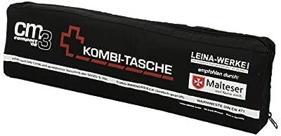 Leina-Werke 16046 Mini-Kombitasche CM3 Compact 08 mit Klett, Schwarz/Weiß/Rot