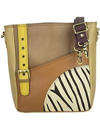 0cc50a90a855f Sunsa Damen Kleine Umhängetasche echt Ledertasche Schultertasche Mini  Trachtentasche Damentasche Crossbody Bag…