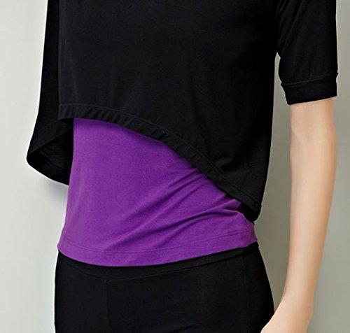 Costumes de vêtements pour le Yoga des femmes black + purple + black