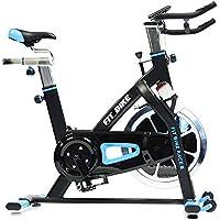 Preisvergleich für FitBike Indoor Cycle Race 8 - 20 kg Schwungrad - Poly V-Riemen und Magnetisches Widerstandssystem - Mit Trainingscomputer - Spinning Fahrrad