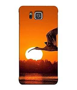 PrintVisa Beautiful Eagle 3D Hard Polycarbonate Designer Back Case Cover for Samsung Galaxy Alpha :: Samsung Galaxy Alpha S801 :: Samsung Galaxy Alpha G850F G850T G850M G850Fq G850Y G850A G850W G8508S :: Samsung Galaxy Alfa