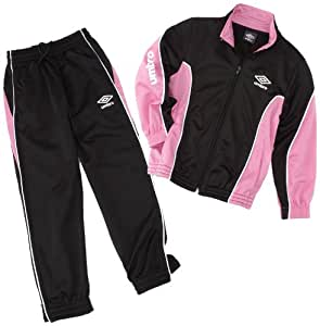 Umbro World Knit Suit Survêtement fille Mica/Rose/Blanc FR : 8-10 ans (Taille Fabricant : 126)