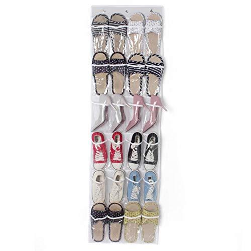 VCB Sac à bandoulière Suspendu de Rangement pour Chaussures arrière à Plusieurs Poches - Blanc