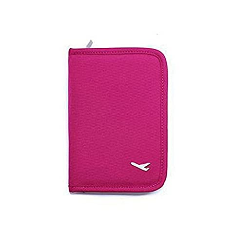 Passport Wallet Zipped Cover Travel Bag Wallet Purse Document Organiser Passport Tickets ID Credit Card Cash Holder Protector Case Cover Rose