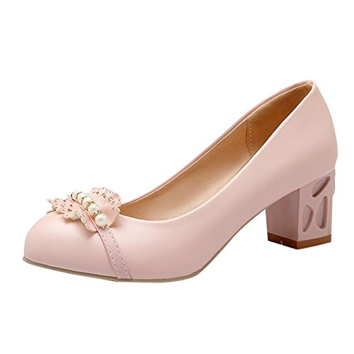 7129e2120c6a Mee Shoes Damen chunky heels runde Geschlossen Pumps -  heraeus-instruments.de