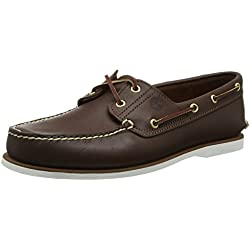 Timberland Classic 2 Eye, Scarpe da Barca Uomo, Marrone (Braun (Dark Brown Smooth)), 43 EU