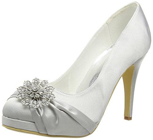 Silver Satin Shoes: Amazon.co.uk