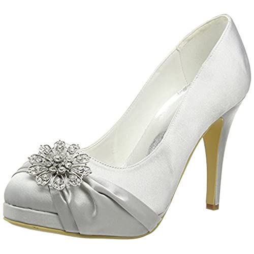 Bridal Shoes Silver: Silver Grey Wedding Shoes: Amazon.co.uk