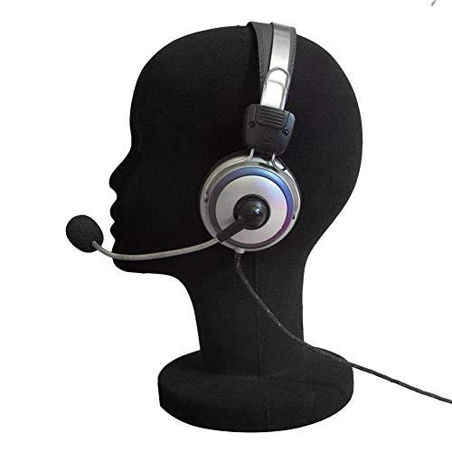 Schaum weibliche Schaufensterpuppe Kopf Puppe Headset Modell Perücke Haar Display Stand schwarz