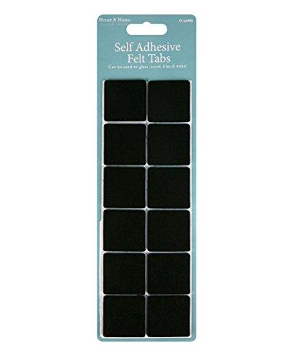 LOT SHOP Selbstklebende Filzaufsätze für Möbelstücke, schwarz, zum Verhindern von Kratzern am Boden, inkl. Lotmal Werbestift, Large Square, 3 Stück