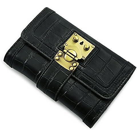 LXL KIU Portafoglio donna/portafoglio di blocco lungo il 30 per cento/Giacca in pelle