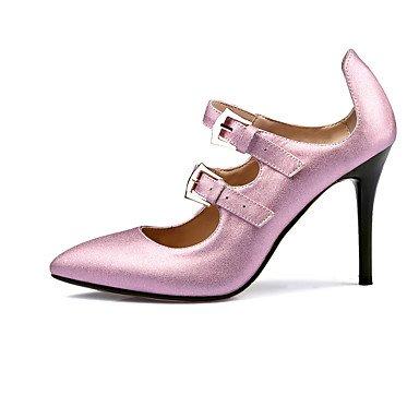 CH&TOU Da donna-Tacchi-Ufficio e lavoro Formale Casual Serata e festa-Altro-A stiletto-Pelle di altri animali-Rosa Argento pink