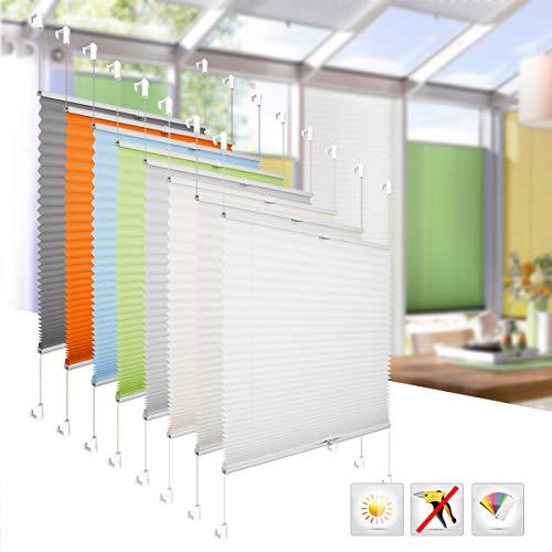 BelleMax Raffrollo ohne Bohren klemmfix Rollo Jalousie Sonnenschutz leicht zu Montieren und Verspannt 70x130 cm Anthrazit