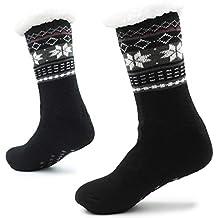 Calcetines Hechos Punto de la Zapatilla para los Hombres con los Deslizadores de la Cama de