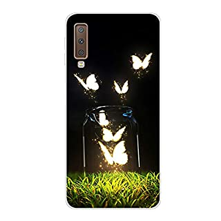 Aksuo for Samsung Galaxy A7 2018 Slim Shockproof Case, Exquisite Pattern Design Clear Bumper TPU Soft Flexible Rubber Silicone Skin Back Cover - Q-Samsung Galaxy A7 2018-67
