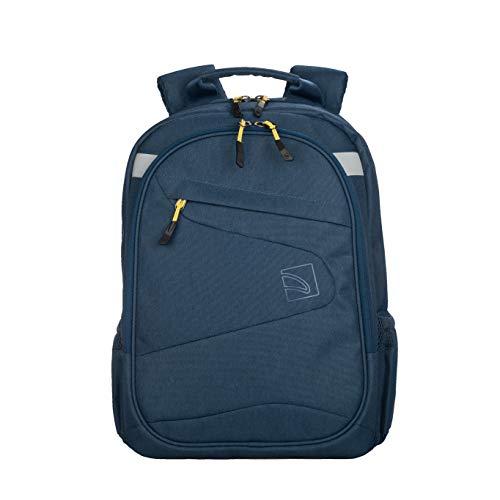 """Tucano-Lato 2- Zaino per Laptop 13.3""""/Notebook 13"""" e 14""""/MacBook Air 13""""/MacBook PRO 13""""/MacBook 15"""". Materiale Tecnico. Schienale ergonomico, Sportivo con Tasche per Laptop e Tablet. Blu"""
