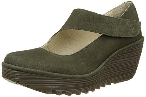 Fly London Women's Yasi682Fly Closed-Toe Heels, Green (Seaweed), 5 UK 38 EU