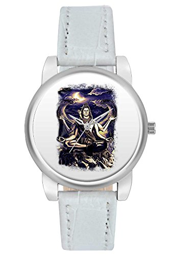 Women's Watch, BigOwl Shiva Psychedelic Illustration Designer Analog Wrist Watch For Women - Gifts for her dials