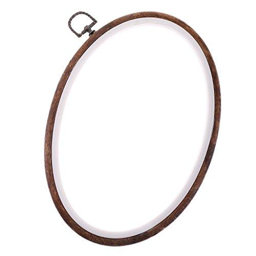 Sharplace 12-29cm Holz Stickrahmen - 22x29cm (12x12 Holz Kreis)