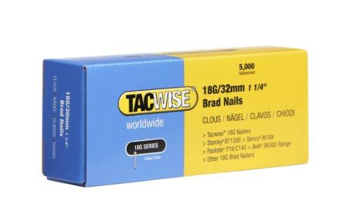 Tacwise 0398 - Clavos galvanizados de 18 x 32 mm (caja de 5000 unidades)