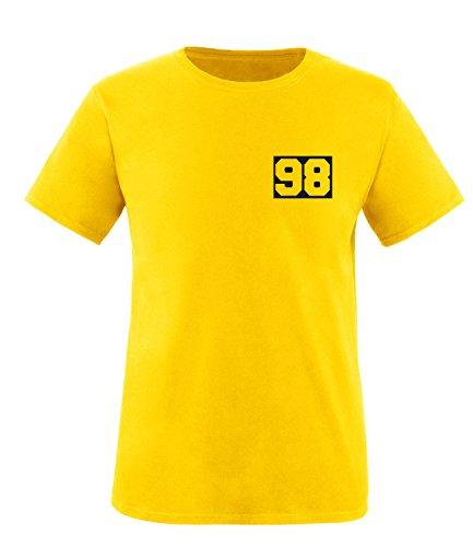 Luckja Wunschnummer T-Shirts für Damen und Herren Herren/Gelb/Schwarz