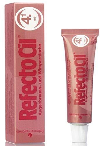 GWCosmetics Refectocil Augenbrauen und Wimpernfarbe, rot, 15 ml