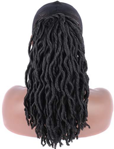 Kalyss schwarze synthetische künstliche Locs Zöpfe Haar verlängerungen Kordelzug geflechter Pferdeschwanz Haarteil mit zwei Klammern -