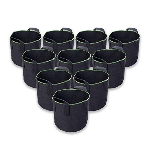 Schramm Lot de 10 sacs de plantation - 20 litres chacun - Non tissés - Pour plantation et pot de fleurs