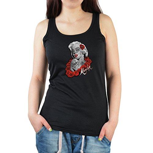 Cooles Witziges Frauen Damen Tank Top Sportshirt mit Motiv Marilyn Monroe in Farbe (Marilyn Outfit Monroe Ideen)