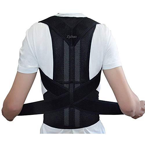 zjchao Geradehalter Rücken Bandage zur Haltungskorrektur bei Rücken Schulterschmerzen Damen und Herren (XXL)