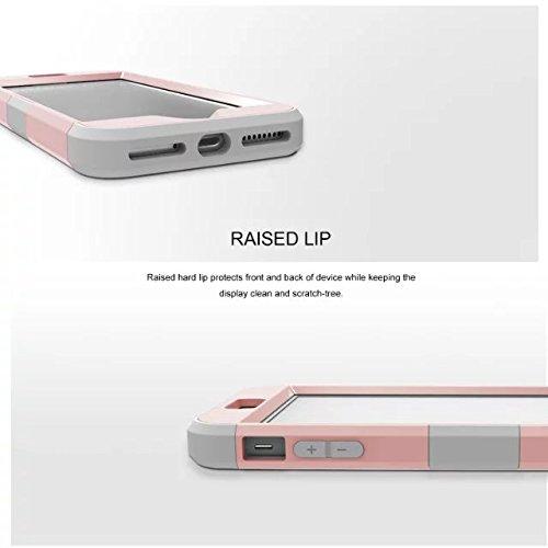 iPhone 7 plus hülle, Lantier 3 in 1 [weicher harter Tough Case] [Anti Scratch] [Stoßdämpfung ] Leichte Schlank Voll Body Armor Schutzhülle für iPhone 7 Plus (5,5 Zoll) Mint Green + Grau Rose Gold+Grey