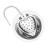 Heart Stainless Steel Tea Infuser with Drip Tray - 2.5 Inch
