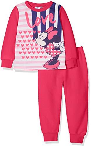 Disney Mädchen Minnie SUPER Hero Zweiteiliger Schlafanzug, Pink (Fushia 18-2436 Tc), 4 Jahre