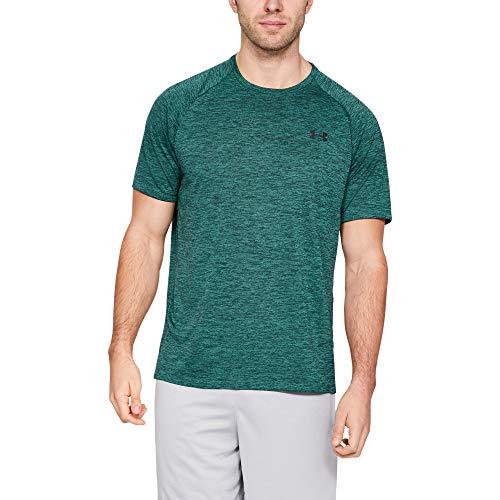 Under armour ua tech 2.0 ss tee, maglietta uomo, verde (batik/jet gray 366), l