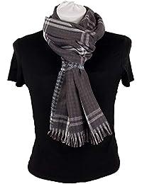 Emila Sciarpa da uomo donna autunno inverno double-face Stola coprispalle  blu grigia bordeaux foulard 28341fae4d36