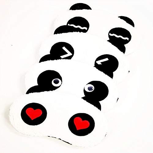 YOSPOSS Schlafmaske KZ9527-W147 Schlafmaske/Masken, süßes Tier, flauschig, Neuheit Schlaf mit chinesischem Panda-Muster, besser für Männer & Frauen & Studenten, 6 Stück