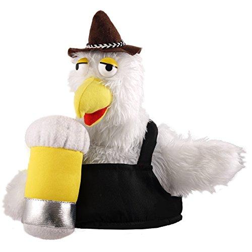 Mütze Huhn mit Bierglas Chicken Hut Faschingshut Funmütze Karnevalshut