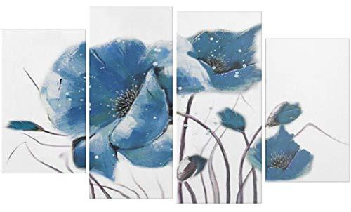 I Colori del Caribe Quadri Dipinti A Mano Olio su Tela con Fiori Quadro per  Salone Salotto Soggiorno Bianco Azzurro Alta QUALITA\' Made in Italy - ...