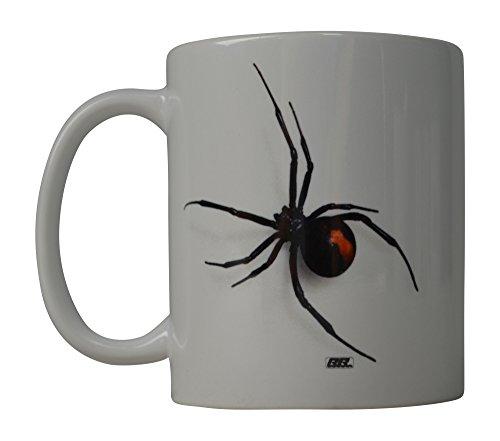 Funny Kaffee Tasse Scary Realistische Black Widow Spider Neuheit Tasse tolle Geschenkidee für Männer Frauen Büro Party Mitarbeiter Boss Kollegen (Black Widow)