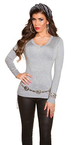 In-Stylefashion - Sweat-shirt - Femme gris gris taille unique Gris