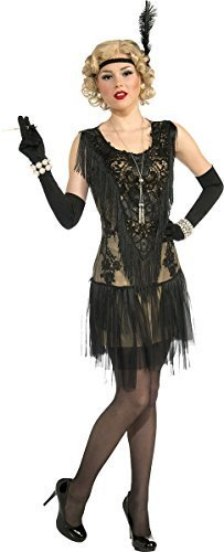 Weihnachten Modisch Club Party 1920s Damen Sexy Lacey Lindy Deluxe Flapper Kleid (Kleid Flapper 1920er Uk Jahren Kostüm)