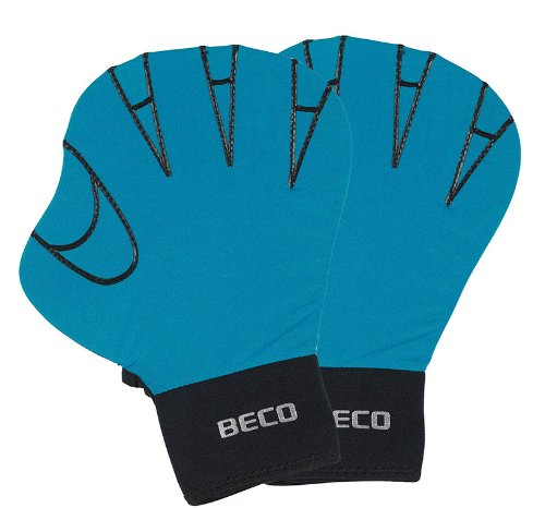 BECO Neopren Lycrahandschuhe Schwimmhandschuhe Aqua Training Glove Gr S türkis