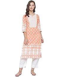 Varanga peach khadi printed Kurta KFF-VAR118221