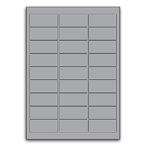Identification Or Multi Purpose Heavy Duty Silver Round Cornered Label