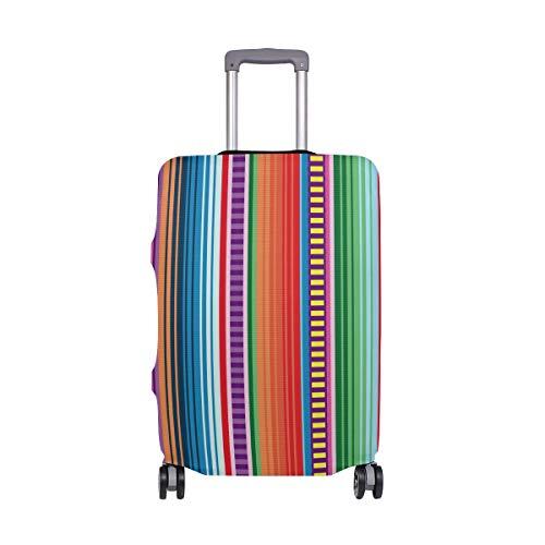 Alinlo Geometrische Gestrickte Bunte Streifen Muster Gepäck, Koffer, Reiseschutz, passend für 45,7-81,3 cm, Mehrfarbig (Mehrfarbig) - wllkn365069bz -