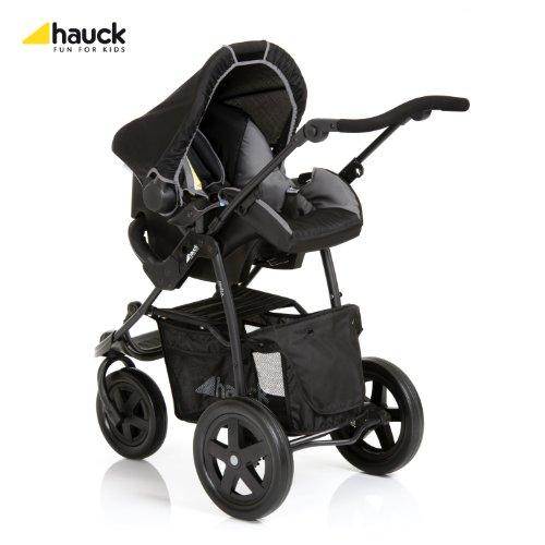 Hauck, Pack poussette 3 roues Travel System Viper, Caviar/Gris, 106x55x107cm